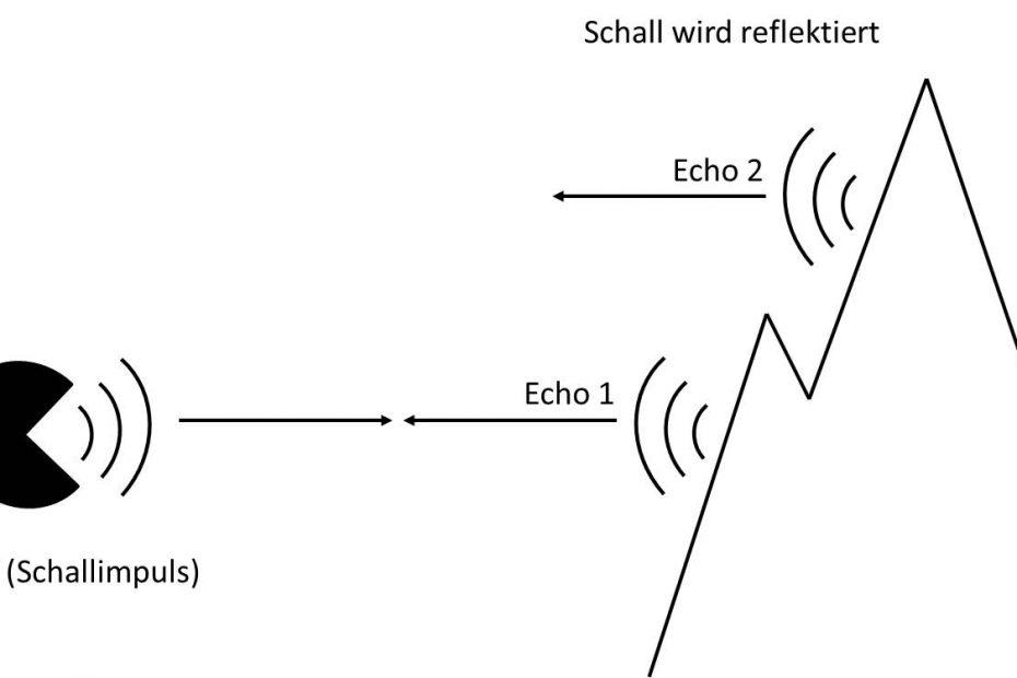 Schema zur Entstehung eines Echos.